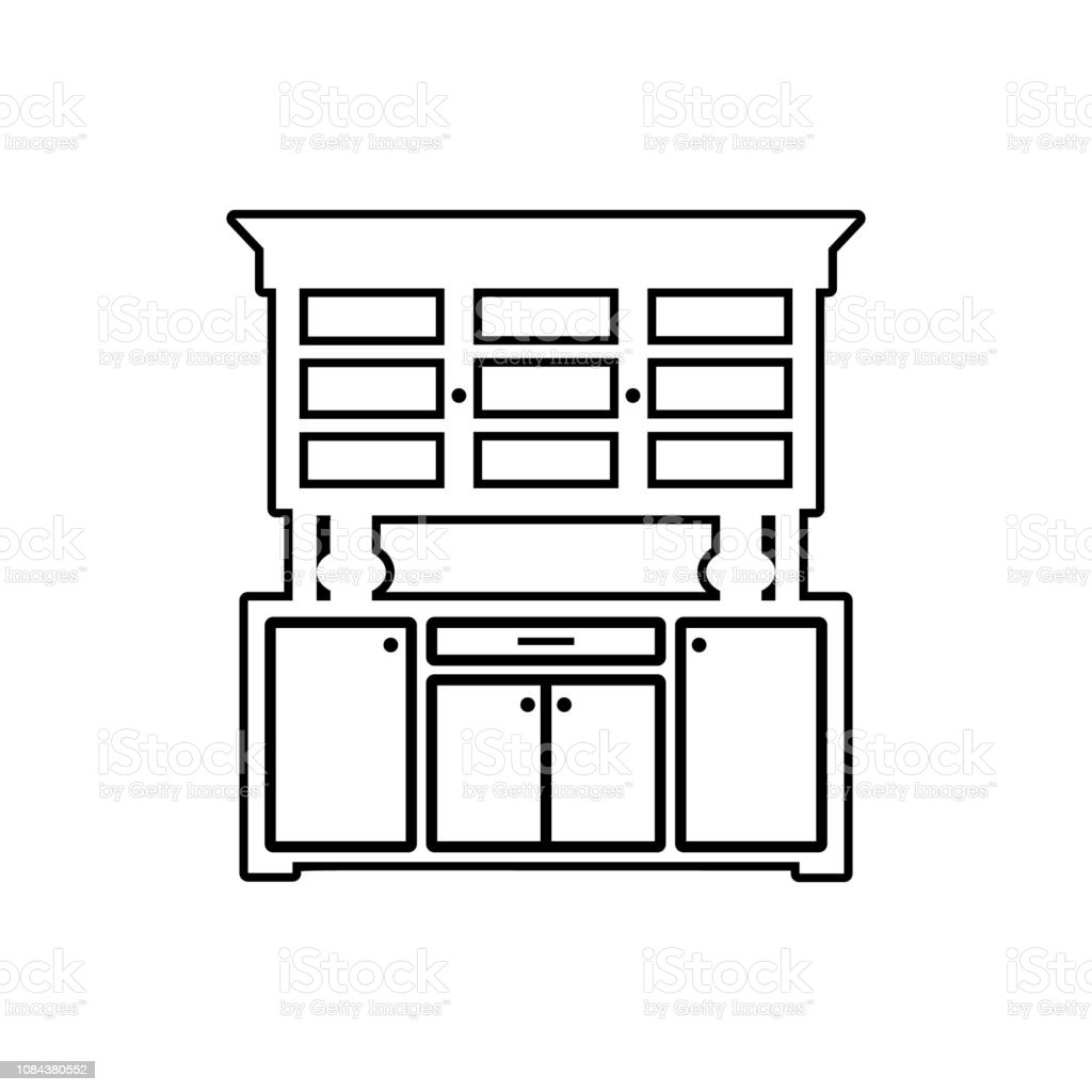 Kitchen Cabinet Icon Element Of Furniture For Mobile Concept And Web