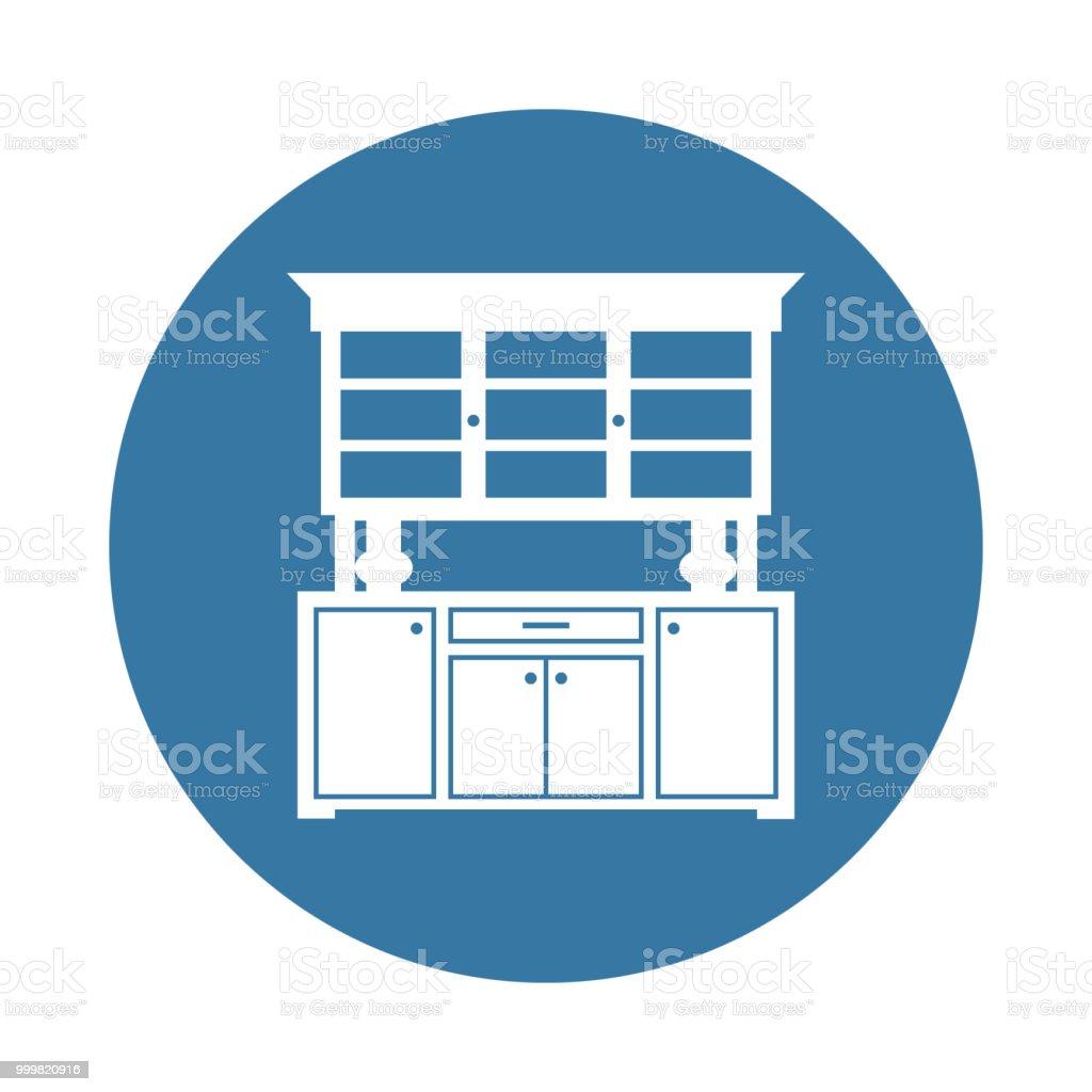 Küchekabinettsymbol Element Der Möbel Symbole Für Mobile Konzept Und ...