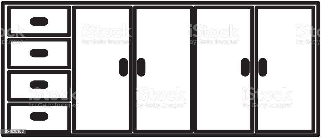 Kitchen Cabinet Isolated Icon Stock Vector Art & More
