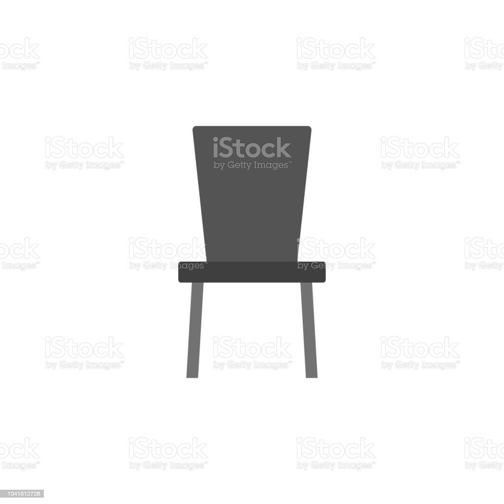 Küche Stuhl Flachikone Element Der Möbel Farbiges Symbol Für Mobile