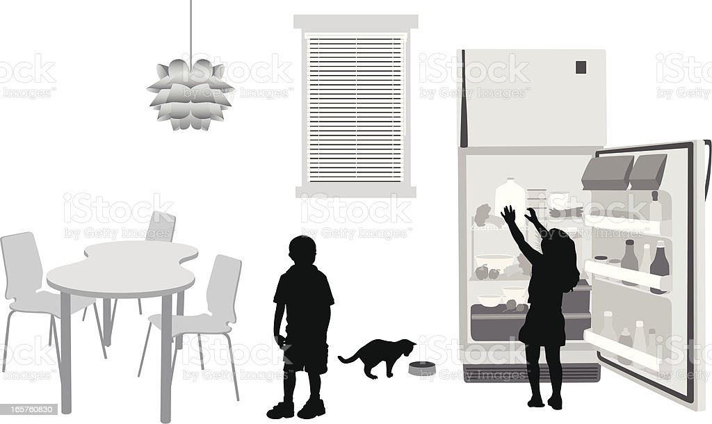 Kitchen Challenges Vector Silhouette royalty-free kitchen challenges vector silhouette stock vector art & more images of black color