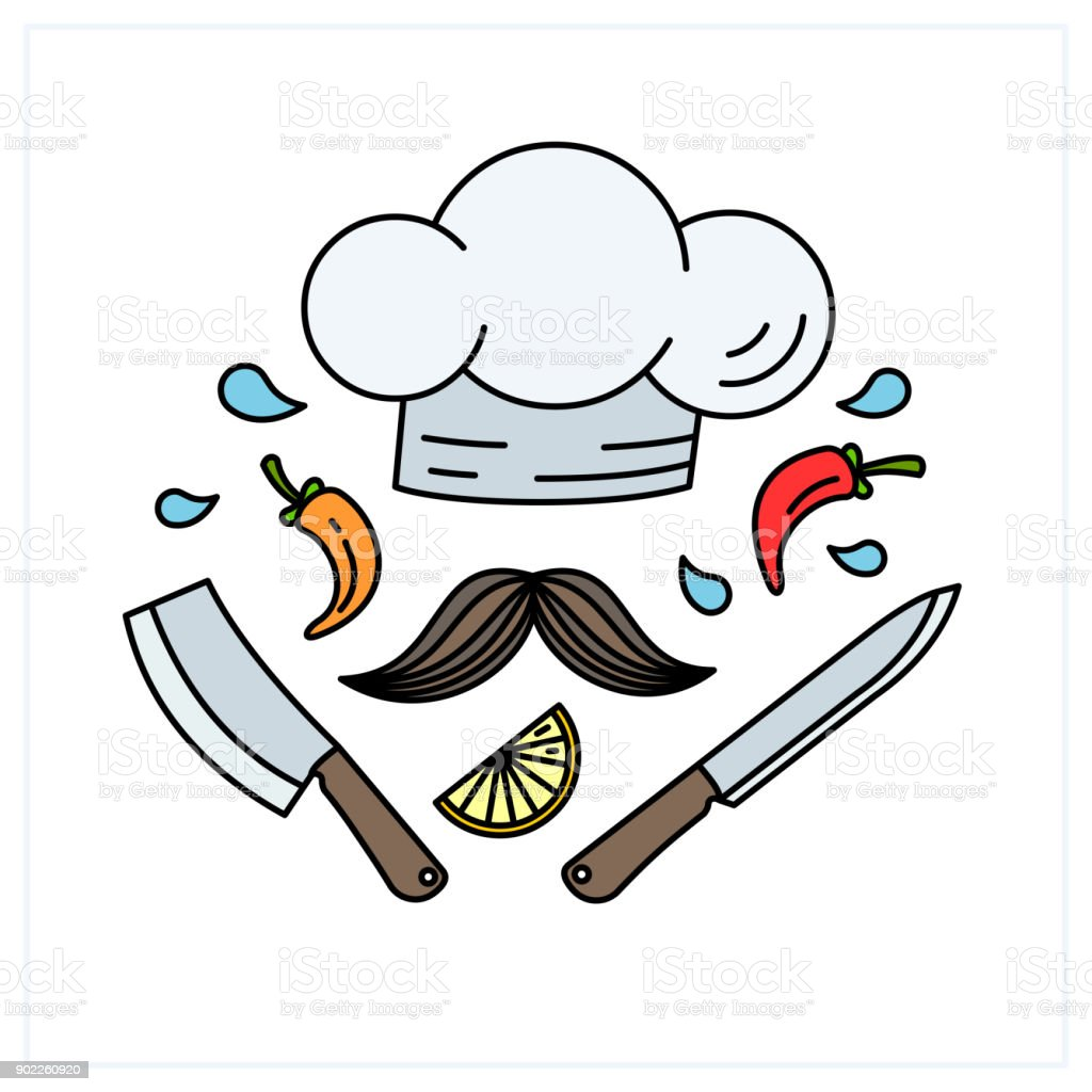 Ilustración de Concepto De Cocina Emblema De Diseño Creativo ...