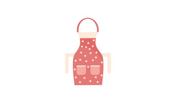kitchen cotton apron icon kitchen cotton apron icon apron isolated stock illustrations