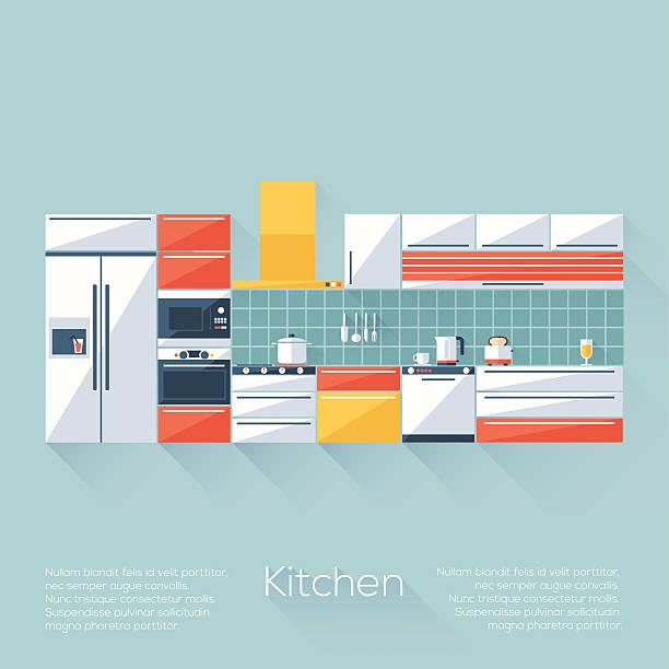 küche abdecken - gewerbliche küche stock-grafiken, -clipart, -cartoons und -symbole