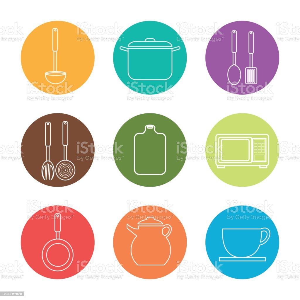 design de cozinha - ilustração de arte em vetor