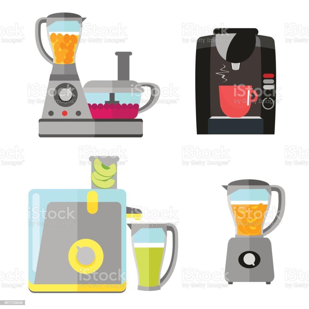 Elektrische Küchengeräte Set Zum Kochen Kaffeemaschine Mixer ...