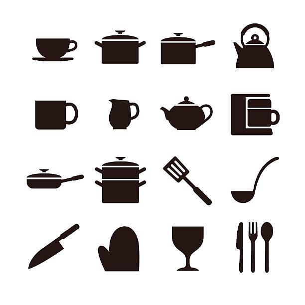 キッチンの要素のアイコン - 鍋点のイラスト素材/クリップアート素材/マンガ素材/アイコン素材