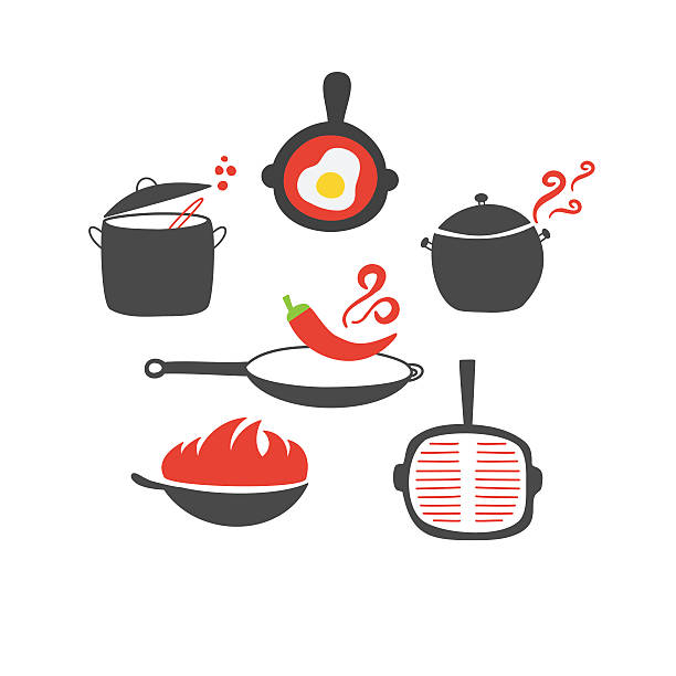 Best Kitchen Illustrations Royalty Free Vector Graphics: Best Chili Pot Illustrations, Royalty-Free Vector Graphics