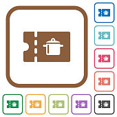 kitchen equipment discount coupon simple icons