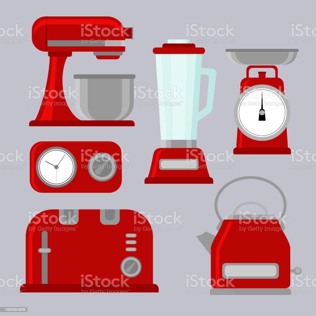 Kucheneinrichtungen Vektorillustration Stock Vektor Art Und Mehr
