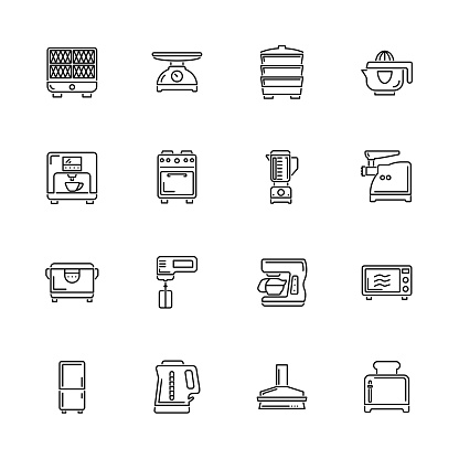 Kitchen - Flat Vector Icons