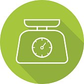 Kitchen food scales icon