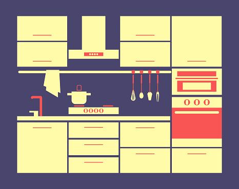 Kitchen furniture set.