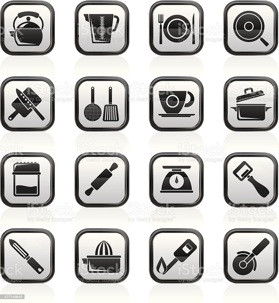 kitchen gadgets and equipment icons royalty-free kitchen gadgets and equipment icons stock vector art & more images of balance