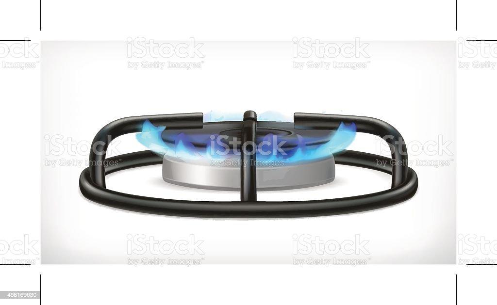 Kitchen gas stove, vector object vector art illustration