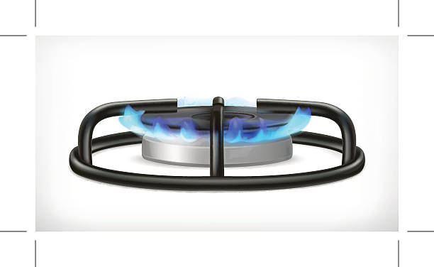 Kitchen gas stove, vector object Kitchen gas stove, vector object, eps10 illustration contains transparency and blending effects stove stock illustrations