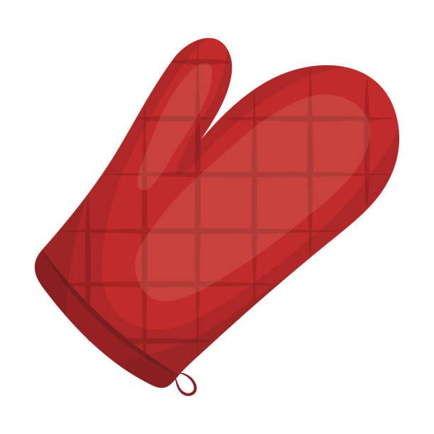 küche-handschuh. bbq einzelnes symbol im cartoon stil vektor symbol lager abbildung web. - schutzhandschuhe stock-grafiken, -clipart, -cartoons und -symbole