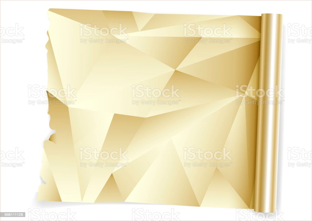 Kitchen Gold Foil Roll Stock Vector Art & More Images of