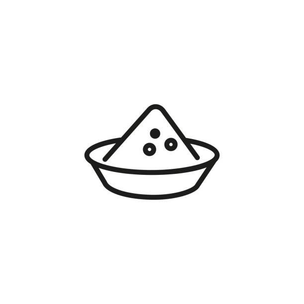 küchenkräuter linie symbol - kräutermischung stock-grafiken, -clipart, -cartoons und -symbole