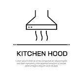 Kitchen Hood Vector Line Icon - Simple Thin Line Icon, Premium Quality Design Element
