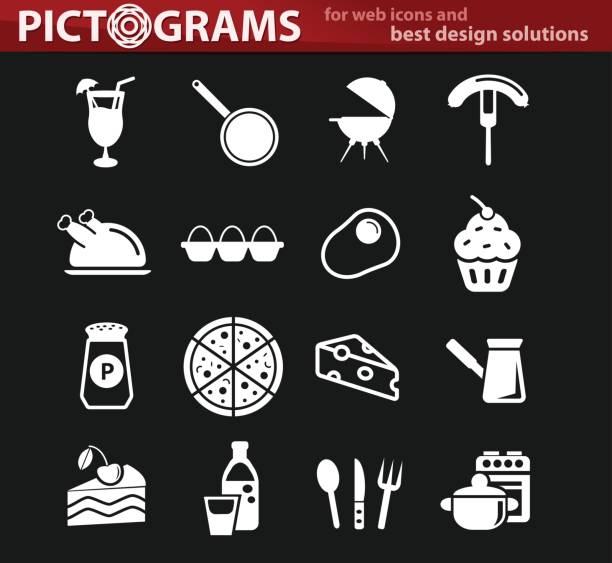 kitchen icon set - newham stock-grafiken, -clipart, -cartoons und -symbole