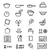 istock Kitchen icons for cooking instructions. 1145197437