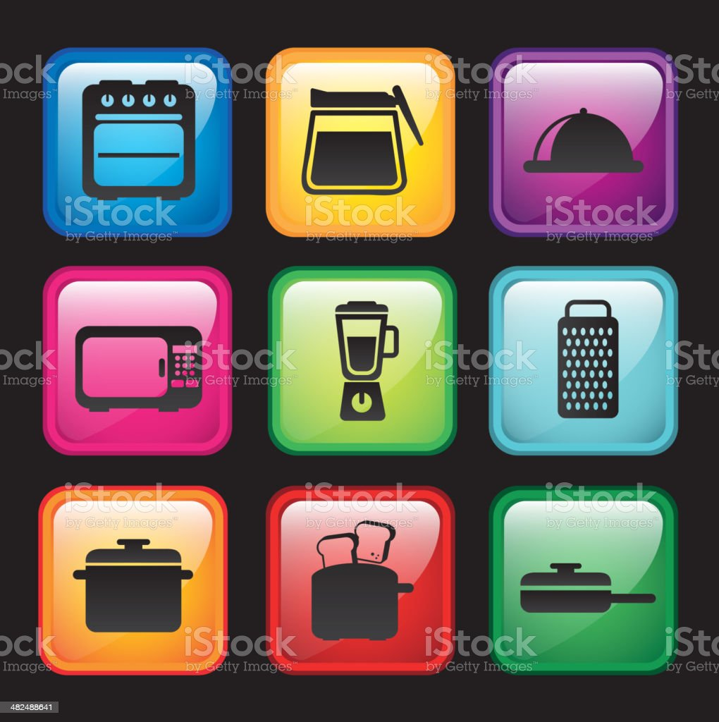 kitchen icons royalty-free kitchen icons stock vector art & more images of blender