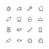 Kitchen icons Vector EPS File.