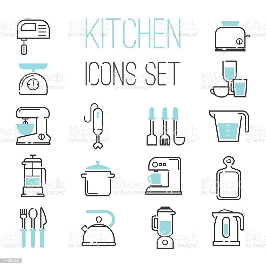 Kitchen icons vector illustration. vector art illustration