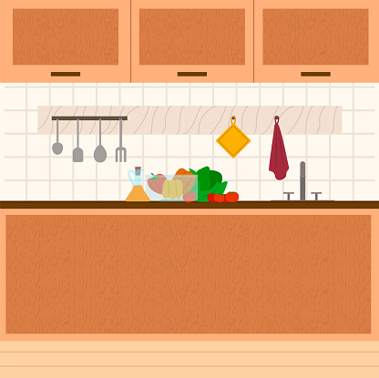 Kitchen Interior, Kitchenware and Products, Food