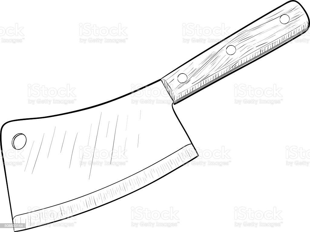 Superieur Kitchen Knife Illustration Stock Illustration   Download Image Now