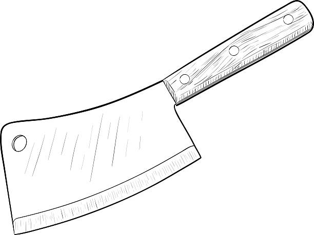 Best Meat Cleaver Illustrations Royalty Free Vector