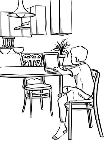 Kitchen Laptop Kid