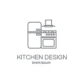 Kitchen logo design templates.