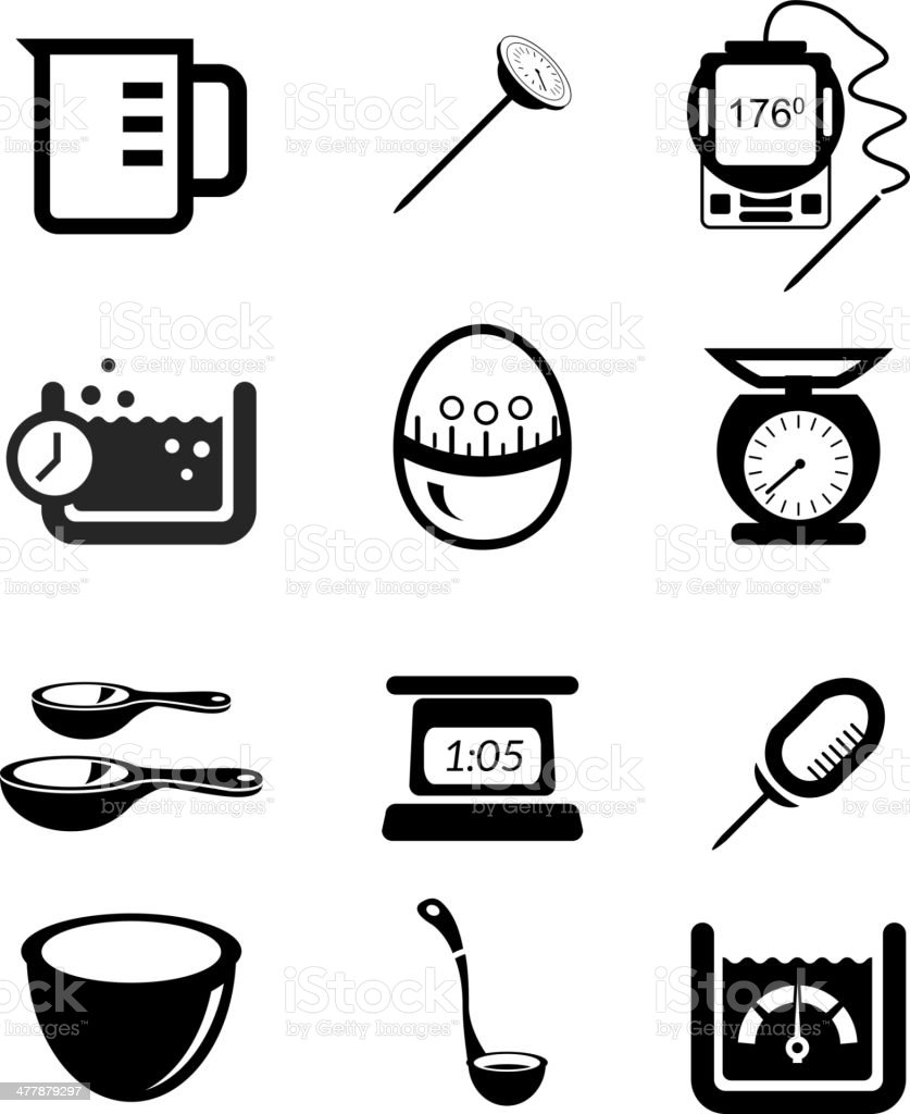 measurement icon. kitchen measurement icon set royalty-free stock vector art