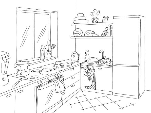 Cartoon Of The Dirty Kitchen Stove Illustrations Royalty
