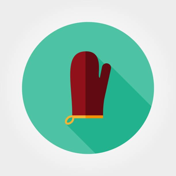 küche-handschuh. topflappen. - filzarbeiten stock-grafiken, -clipart, -cartoons und -symbole