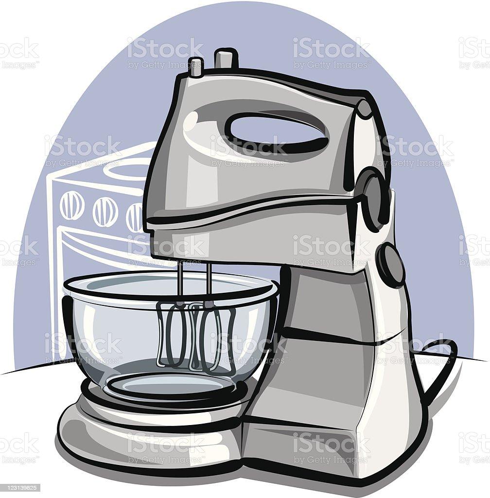 kitchen mixer royalty-free stock vector art