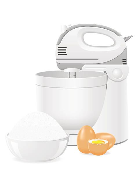 kitchen mixer vector illustration - busy restaurant kitchen stock illustrations