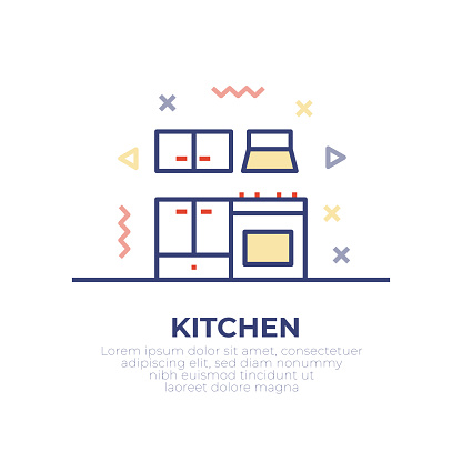 Kitchen Outline Icon Design