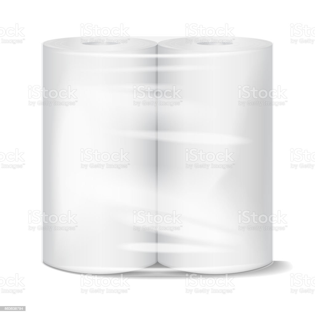 Küche Papier Handtuchpaket Modell Mit Transparenter Verpackung ...