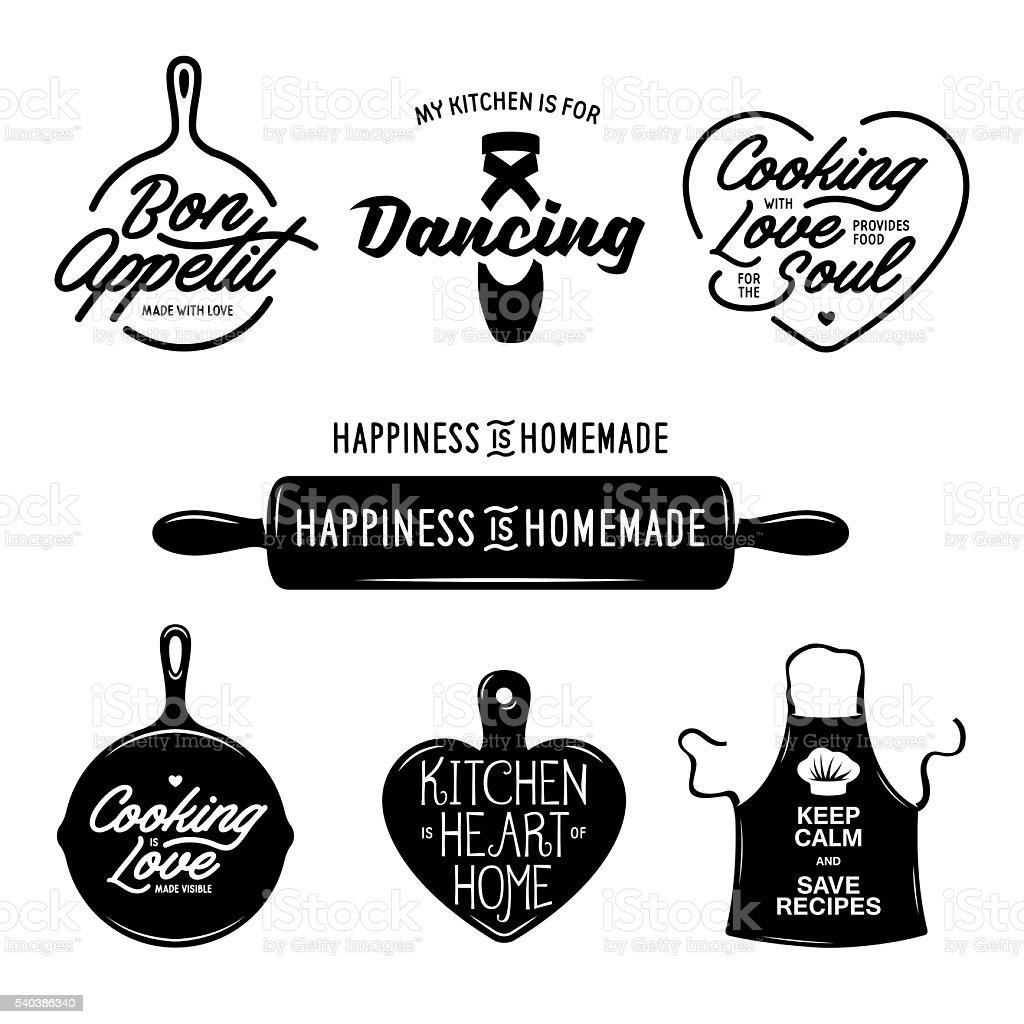 Cuisine Liées Ensemble De Typographie Citations Sur La Cuisine - Citation sur la cuisine