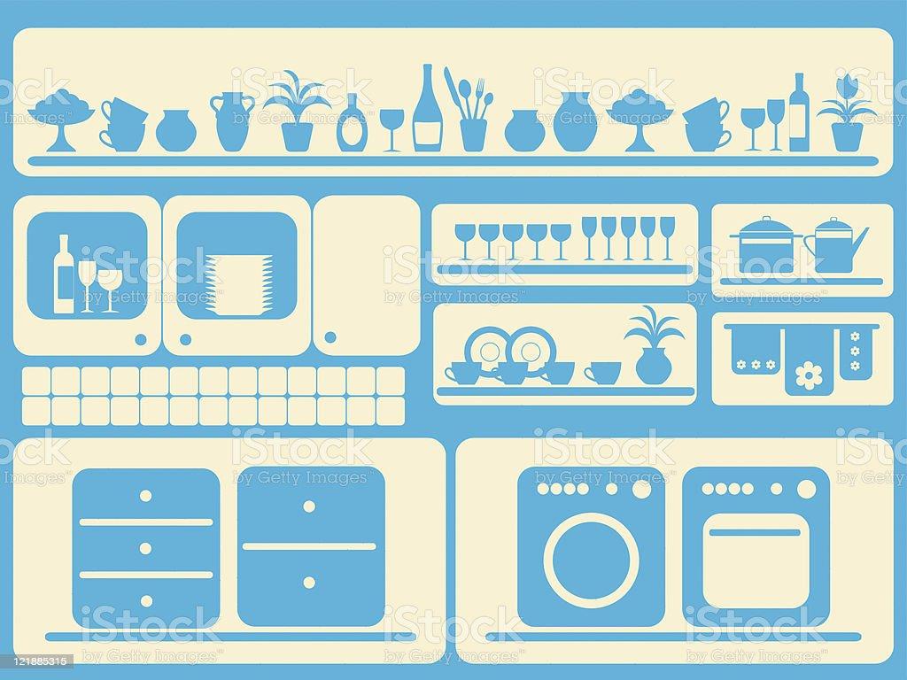Attraktiv Küche Zimmer Und Objekte, Die Sich Wie Zu Hause Fühlen. Lizenzfreies Küche  Zimmer Und