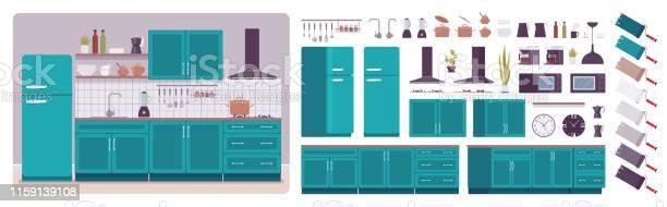 Kitchen room interior and design construction set vector id1159139108?b=1&k=6&m=1159139108&s=612x612&h=bwofk1wq6dwrcdldn3nftdab4y7lt3ockg6drhwyk q=