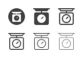 Kitchen Scale Icons Multi Series Vector EPS File.