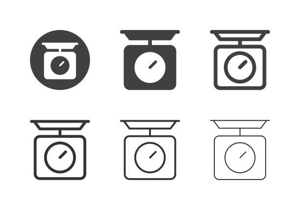 Kitchen Scale Icons - Multi Series vector art illustration