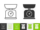 Kitchen Scale simple black line vector icon