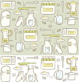 Kitchen seamless elements