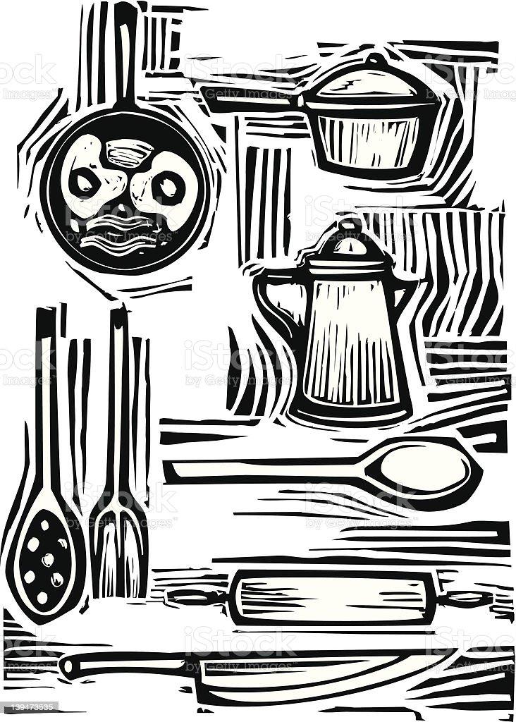 Kitchen Set royalty-free stock vector art