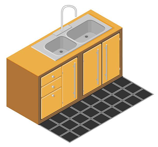 Kitchen Sink Drain Illustrations: Best Kitchen Sink Illustrations, Royalty-Free Vector